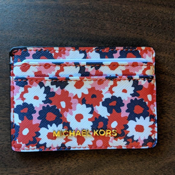 Michael Kors Handbags - Michael Kors Jet Set Carnation Card Case NWOT